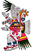 Sorcerers Posters - Tezcatlipoca, Aztec God Of Night, Codex Poster by Photo Researchers