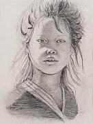 Thai Drawings - Thai Beauty by Nadine Rippelmeyer