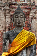 Golden Digital Art Prints - Thai Buddha Print by Adrian Evans