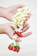 Healthcare Originals - Thai culture jasmine in hand by Anek Suwannaphoom