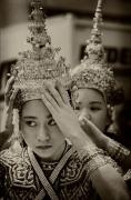 Thai Photos - Thai Dancers Preparing by Robert Ullmann