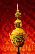 Ramayana Photo Prints - Thai giant khon mask  Print by Nongnuch Leelaphasuk