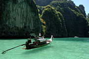 Phuket Prints - Thai Long Tail Boat  Print by Bob Christopher