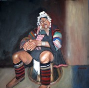 South Asia Paintings - Thai Tribal Woman by Keith Bagg