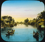 Slide Prints - Thailand, Looking Up River Or Canal Print by Everett