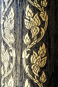 Wood Tapestries - Textiles Posters - Thailand pattern  Poster by Panupong Roopyai