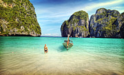 Long Tail Prints - Thailand Vacation Print by Ron Schwager