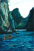 Thailand Paintings - Thailand Water by Louise Miller