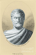 Thales Theorem Posters - Thales, Ancient Greek Philosopher Poster by Photo Researchers, Inc.