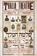 Yiddish Prints - Thalia Theatre On New Yorks Lower East Print by Everett