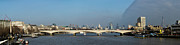 London Skyline Art - Thames panorama weather front clearing by Gary Eason