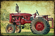 Antique Tractor Posters - Thank a Farmer Poster by Bonnie Barry