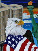 Patriotic Paintings - Thank A Soldier by Adele Moscaritolo