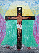 Religious Drawings - Thank God For Good Friday Nineteen Ninety Nine by Carl Deaville