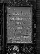 Signs - Thank You for Shopping Here by Robert Ullmann
