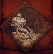 Sports Pyrography Prints - Thank you  Mr. Sanders Print by Dan LaTour