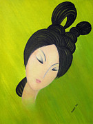 Japanese Paintings - Thank You My Love by Oiyee  At Oystudio