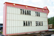 President Obama Posters - Thank You Navy Seals Poster by Lynda Dawson-Youngclaus