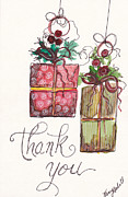 Holiday Notecard Originals - Thank You Ornaments by Michele Hollister - for Nancy Asbell