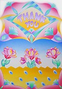 Floral Sculpture Posters - Thank You Poster by Virginia Stuart
