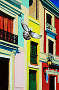 Colorful Buildings Prints - Thankful to See Again Print by John Lautermilch