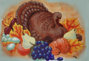 Giving Painting Originals - Thankgiving by Eileen Blair