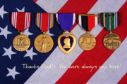 Medals Posters - Thanks Dad - You were always my hero Poster by James Bo Insogna