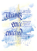 Bible. Biblical Posters - Thanks Grace   Poster by Judy Dodds