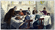 19th Century America Prints - THANKSGIVING, 19th CENTURY Print by Granger
