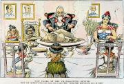 Hawaiian Food Posters - Thanksgiving Cartoon, 1898 Poster by Granger