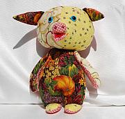 Pig Tapestries - Textiles - Thanksgiving Piggly by Tamara Konovalova