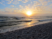 Panama City Beach Posters - Thanksgiving Sunset at Panama City Beach FL Poster by Victor Pacheco