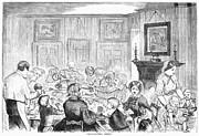 Thanskgiving Dinner, 1857 Print by Granger