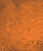 Astrogeology Photos - Tharsis Region Of Mars by Stocktrek Images