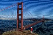 Sausalito Prints - That Crazy Bridge Print by Carl Purcell
