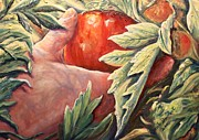 Christian Paintings - That First Tomatoe by Renee Dumont  Museum Quality Oil Paintings  Dumont