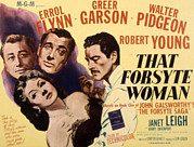Garson Framed Prints - That Forsyte Woman, Greer Garson, Errol Framed Print by Everett