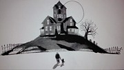 Haunted House Mixed Media Metal Prints - That House Metal Print by Ronald Mcduff