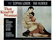 1959 Movies Framed Prints - That Kind Of Woman, Tab Hunter, Sophia Framed Print by Everett