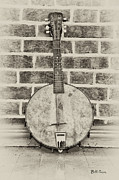 Mandolin Posters - That Old Banjo Mandolin Poster by Bill Cannon