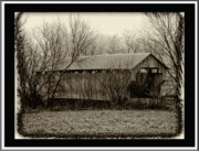 Covered Bridge Digital Art Prints - That Old Covered Bridge Print by Bill Cannon