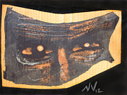 Creepy Mixed Media Originals - That Sparkle in his Eye by Nicholas Vermes
