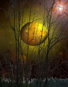 Imaginary Planet Posters - That Yellow Planet Poster by Andrea Lawrence