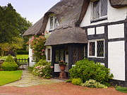 Country Cottage Photo Originals - Thatched Cottage by John Chatterley
