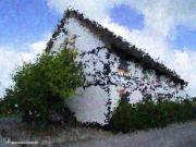 All - Thatched Country House Impressionist Painting by Dawn Hay