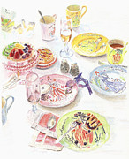 Tea Party Drawings - Thats Amore by Beth Saffer
