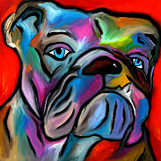 Faces Mixed Media Prints - Thats Bull - Abstract Dog Pop Art by Fidostudio Print by Tom Fedro - Fidostudio
