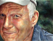Prismacolor Colored Pencil Drawings Prints - Thats My Dad Print by Melissa J Szymanski