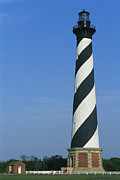 Nautical Structures Photos - The 1870 Cape Hatteras Lighthouse by Stephen Alvarez