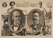 Socialists Framed Prints - The 1904 Socialist Candidates For Us Framed Print by Everett